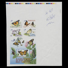 Barbados 2005 Butterflies imperforate composite proof