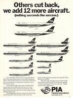 1976 Original Advertising' American Pia Pakistan International Airlines Fleet