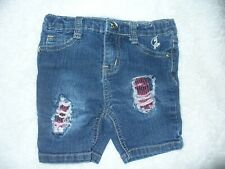 Baby Phat Girls 3T Jean Shorts Pre-owned Distressed Look