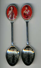Donny & Marie Osmond 2 Silver Plated Spoons Featuring Donny and Marie
