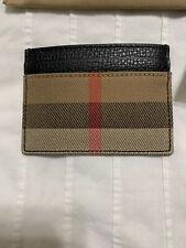 New Auth Burberry Men Unisex Grainy Checksandon Card Case Holder Wallet $295