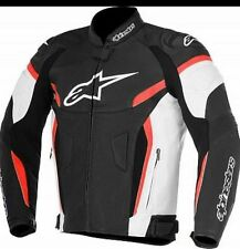 Men Alpinestar Motorcycle Racing Biker 100%Cowhide Leather Jacket All Sizes