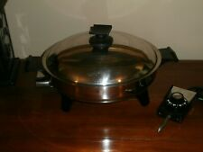 Rena Ware Electric Skillet Vent Lid Immersible #17125 Power Cord Cookware