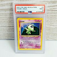 PSA 9 MINT Celebi Holo 3/64 Neo Revelation Pokemon Card LOW POP 113
