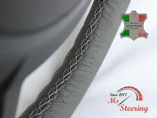 FOR IKCO ARISUN - GREY STEERING WHEEL COVER GREY STITCH