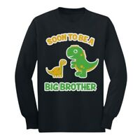 Soon To Be A Big Brother Gift Idea - Raptor Dinosaur Long sleeve kids T-Shirt
