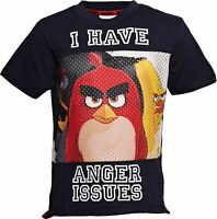ANGER ISSUES ANGRY BIRDS Baseball Style T-Shirt Age 7-8 Kids Angry Bird Shirt