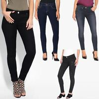 Womens Ladies Ankle Zip £10 Skinny Jeans Fitted Slim Leg Soft Denim Pants Winter