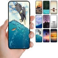 For OPPO Series - Seascape Theme Print Mobile Phone Back Case Cover