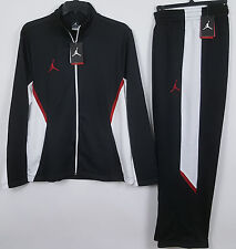 NIKE AIR JORDAN DRI-FIT WARM UP SUIT JACKET + PANTS BLACK RED RARE NEW (SIZE XL)