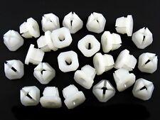 Mercedes Nylon Trim Screw Nuts- Bezel, Trim, Grille, Chrome, etc- 25 nuts- #088