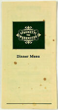 1989 Vintage Menu The Spaghetti Warehouse Restaurant Chain Ny Oh Fl Tx