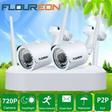 4CH Wireless CCTV 1080P DVR Outdoor WiFi IP Camera Security NVR System Kit IP66