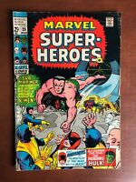 Marvel Super Heroes #25 (1970) 5.5 VG Key Issue Bronze Age Comic Book X-men