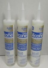 New Listing3 - Ge Advanced Silicone Ii 10.1 oz. Clear Window and Door Sealant Caulk - Read