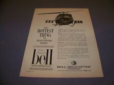 VINTAGE..BELL UH-1B IROQUOIS HELICOPTER..ORIGINAL SALES ADS...RARE! (358M)