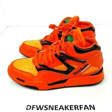 "Reebok The Pump Hexalite ""Halloween"" Men'S Sz 8.5 QS Orange Black Sneaker QQ"