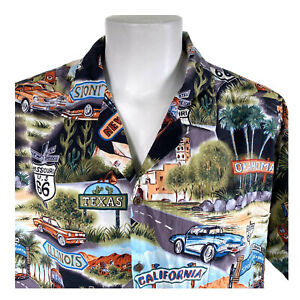 Pacific Legend 3XL Historic Route 66 Hwy Landmarks Classic Cars Shirt