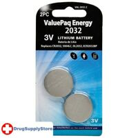 PE ValuePaq Energy 2032 Lithium Coin Cell Batteries, 2 pk
