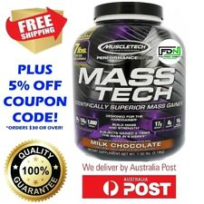 MUSCLETECH MASS TECH BULK POWDER 7lbs 3.1kg NEW PERFORMANCE MASSTECH GAINER WHEY