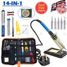 Soldering Iron Kit Electronics Welding Irons Tool 60W Adjustable Temperature UK