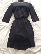 (#1368) Paul & Joe Sister noir Shift Robe en viscose mélangé Taille 38/10 UK