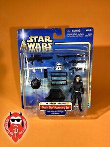 *** LOOK *** Star Wars Death Star Accessory Set w/ Trooper ROTJ SAGA 2002 Droids