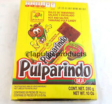 De La Rosa Pulparindo Tamarind Pulp Real Fruit Mexican Candy 20 pcs Hot and Salt