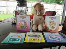 Vintage & Authentic Teddy Ruxpin Bear Doll 1985 W/ 5 Books 3 Tapes