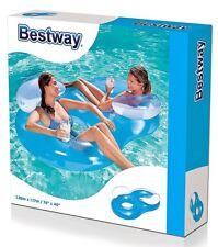 Doppelsitzer 2er Luftmatratze Schwimmring Pool Doppel Schwimmsitz bestway 43009