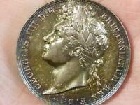 1821 George IV Coronation Silver Medal 35mm Pistrucci #T2275