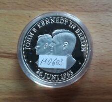 Medaille Silber BRD US-Präsident John F. Kennedy in Berlin 26. Juni 1963 M0603