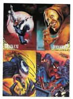 1995 FLEER ULTRA SPIDER-MAN - 4 CARD PROMO SHEET - BLACK CAT VENOM HOBGOBLIN
