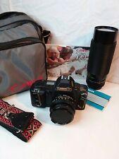 Canon T70 35mm camera W/lens +bag+Manual
