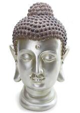 """LARGE 12"""" Tall Buddha Shakyamuni Head Statue Smiling Meditating Buddha US Seller"""