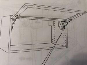 New Ikea Utrusta 102.657.35 Horizontal Door Cabinet Hinge Large Black Pair x 2