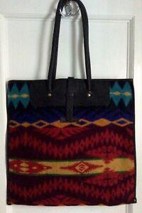 PENDLETON southwest pattern wool zippered tote bag
