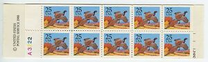 US, #BK159 PHEASANT P#A3222 COMPLETE BOOKLET MINT NEVER HINGED
