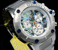 NEW Invicta Speedway XL VIPER SWISS Ronda Z60 Movt ABALONE Dial S.S Silver Watch