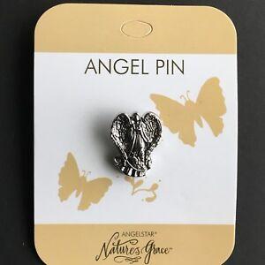 Angel Pin Brooch Badge, Grace, Hope, Joy, Love, Peace, Serenity, Believe