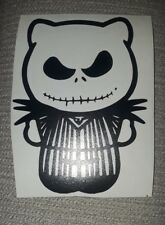 "HELLO Kitty Jack SKELLINGTON Gothic Kitty Decal Sticker  CAR window 5"" nightmare"