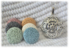 Lace Essential Oil Aromatherapy Diffuser Necklace with 6 lava stones!
