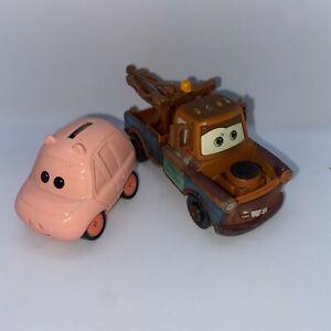 Disney Pixar Cars Supercharged Hamm & Tow Mater Metal Diecast Toy Cars
