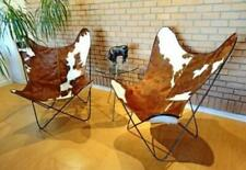 Original BKF Chair.Cowhide Leather Butterfly Chair. Chrome Frame From Argentina.