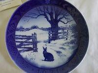 "Vintage ROYAL COPENHAGEN Christmas Plate 1971 ""Hare in Winter"" Plate"