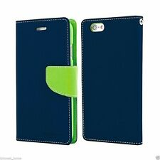 iPhone 6 6s Genuine MERCURY Goospery Fancy Diary Blue Flip Case Wallet Cover
