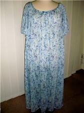 NWT made USA blue floral flowing nightie - 1X 18-20