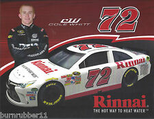 "2017 COLE WHITT ""RINNAI WATER HEATER"" #62 NASCAR MONSTER ENERGY CUP POSTCARD"