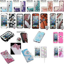 For iPod Touch 5 6 5th & 6th Gen - Tuff Hybrid Case Cover Skin+Screen Protector