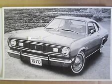 """1970 Plymouth Duster 2 Door Hardtop  12 X 18"""" Black & White PICTURE"""
